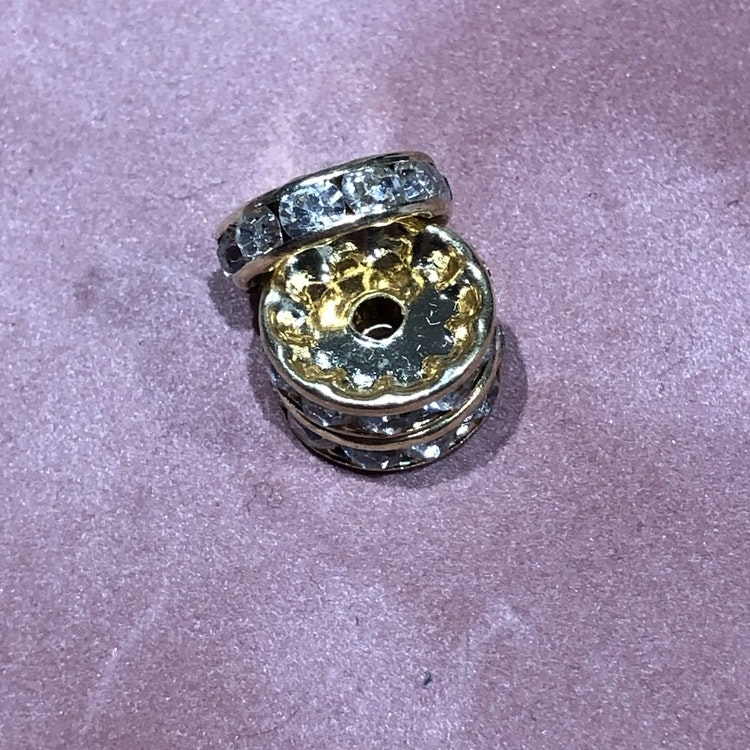 Strasspärla - Guld