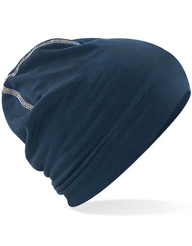 Beanie - Marinblå/Vit