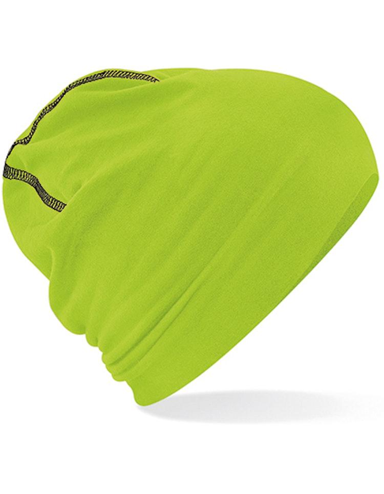 Beanie - Lime/Svart