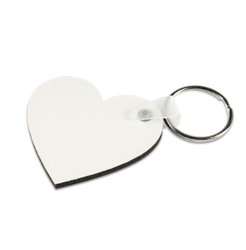 Nyckelring - Hjärta av MDF 10-pack