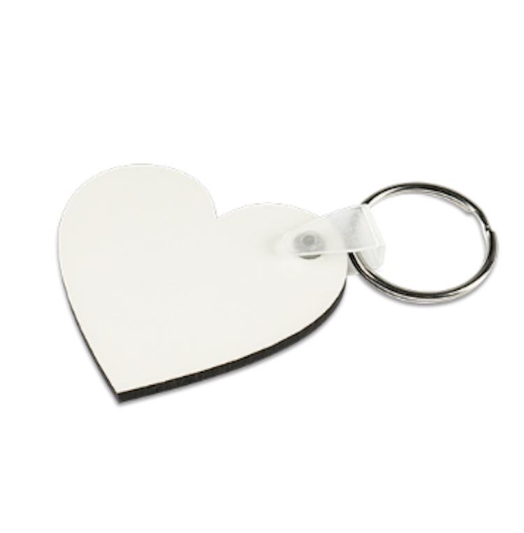 Nyckelring - Hjärta av MDF 10 pk