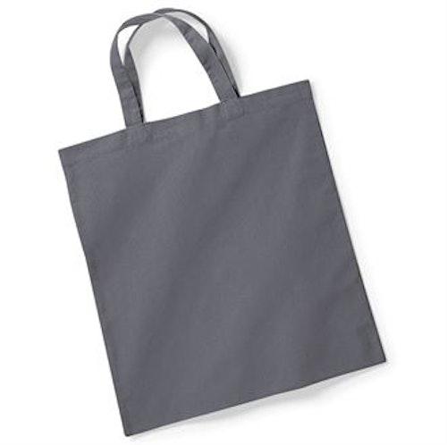 Textilkasse enkel kort handtag - Grå 48