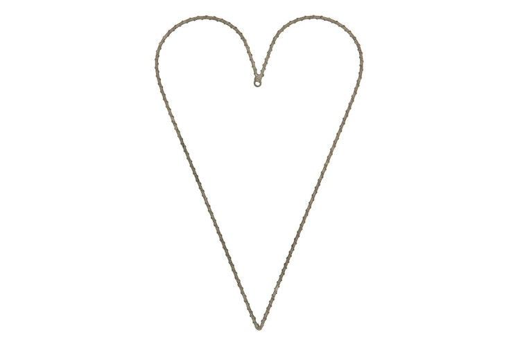 Metallhjärta/Stomme Brun 40cm
