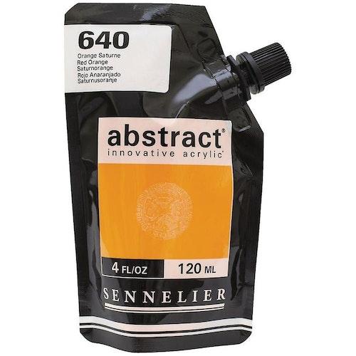 Akrylfärg Sennelier Abstract - Hög pigmentering - Orange Saturne 640