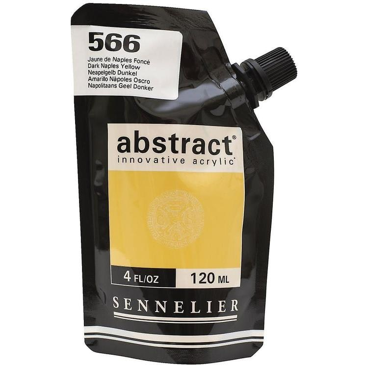 Akrylfärg Sennelier Abstract - Hög pigmentering - Jaune De Naples Fonce 566