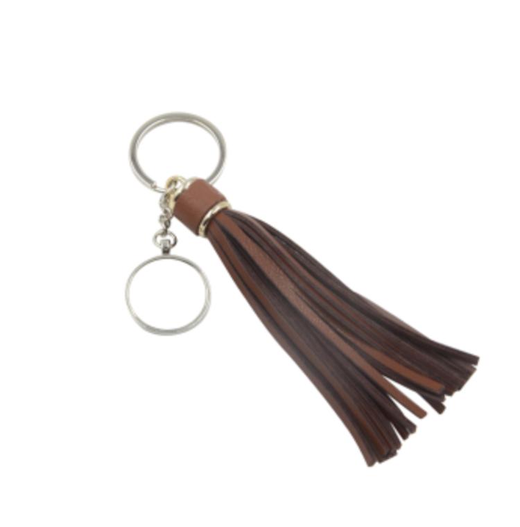 Nyckelring - Brun tassel