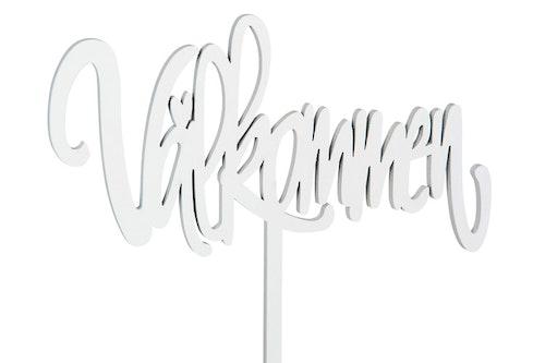 dekorationsskylt -Välkommen - Vit