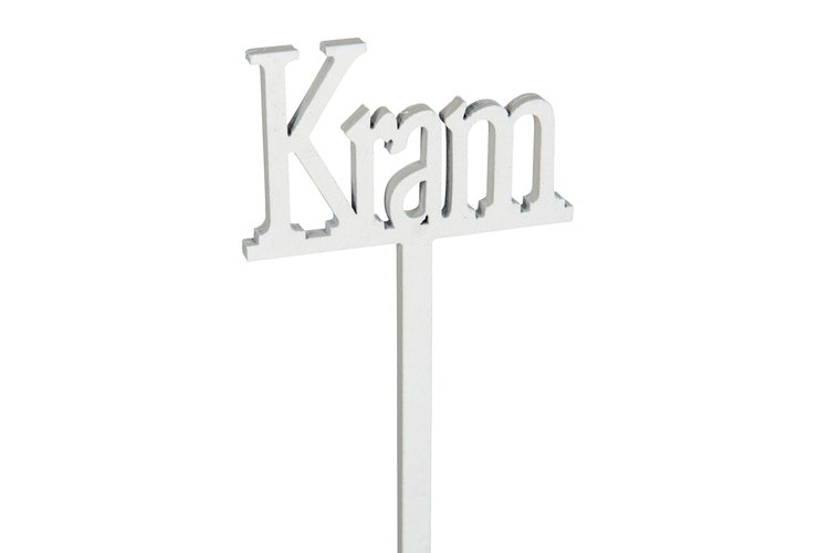 dekorationsskylt Kram - Vit
