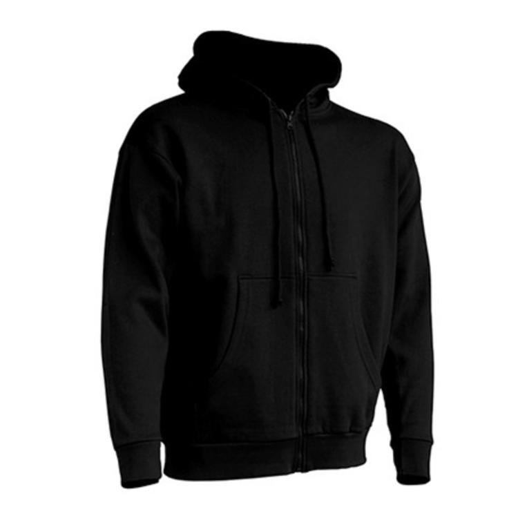 Zip-hoodie Unisex  -  svart