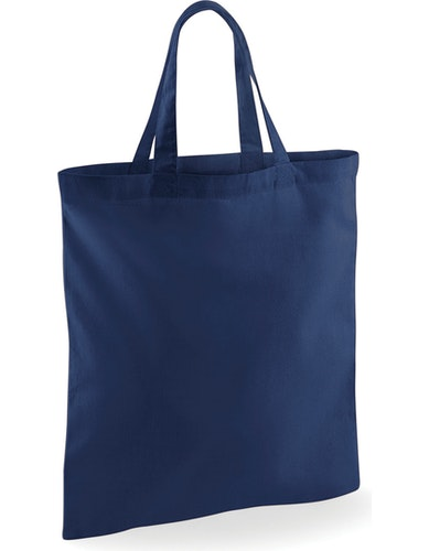 Textilkasse enkel kort handtag - Marinblå 51