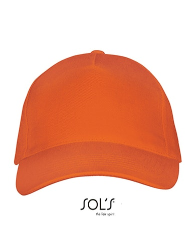 Keps -Five Panels Cap Long Beach- Orange