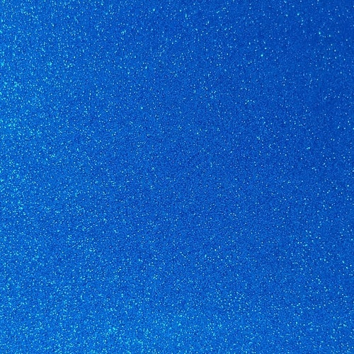 Transparent Glitter - Mellanblå