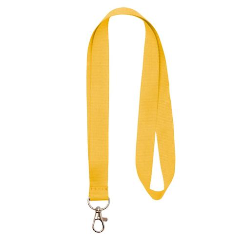 Nyckelband - Lång Gul