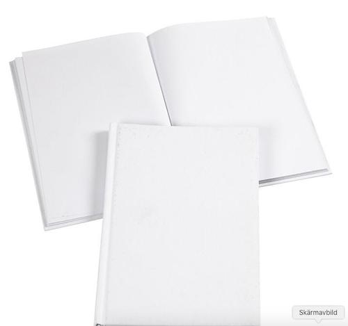 Inbunden anteckningsbok