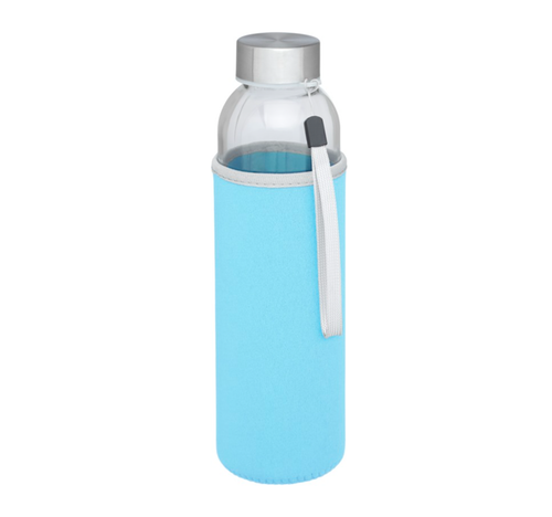 Sportflaska i Glas - Ljusblå