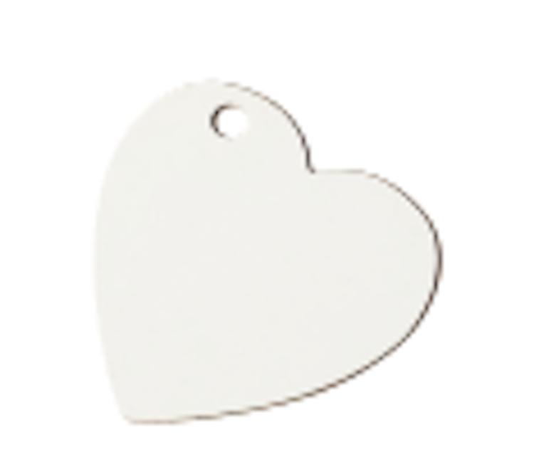 Nyckelring - Hjärta av aluminium 10-pack