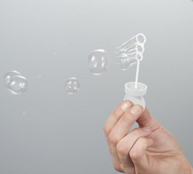 Såpbubblor med tag