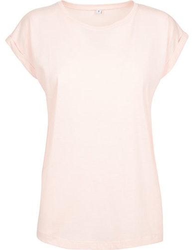 Ladies` Extended Shoulder Tee - Pink