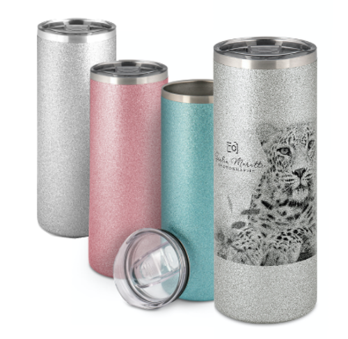 Silver Glitter Termosmugg -  500 ml