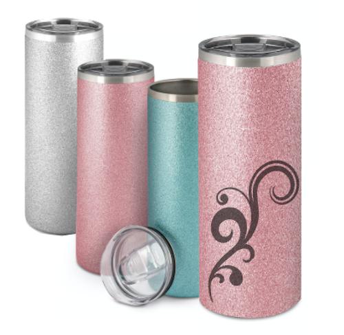Rosa Glitter Termosmugg -  500 ml