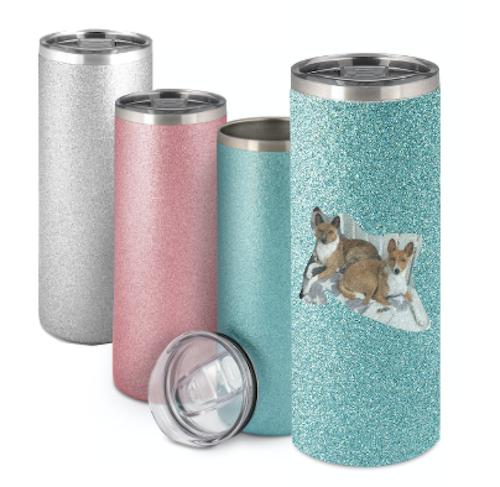 Blå Glitter Termosmugg -  500 ml