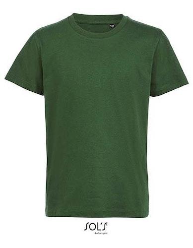 Barn T-shirt- Ekologisk -Skogsgrön