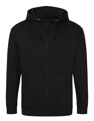 Unisex ZIP Sweatshirts -  hoodies svart- Stora storlekar