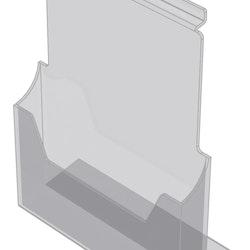 Broschyrhållare 1/3 A4 till spårpanel eller hylla EA217