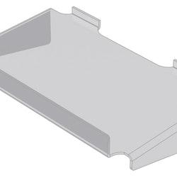 Hylla med stöd och framkant i akryl till spårpanel EA230