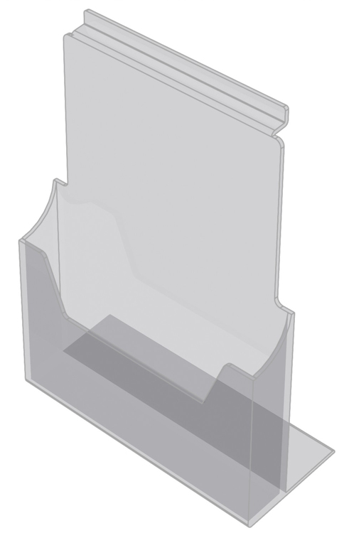 Broschyrhållare A4 till spårpanel eller hylla EA219
