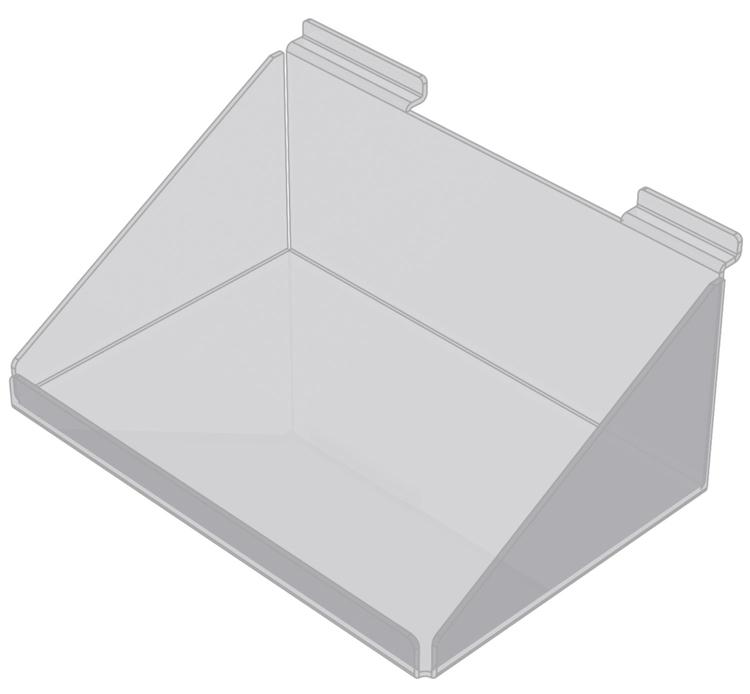 Korg med framkant i akryl till spårpanel EA237