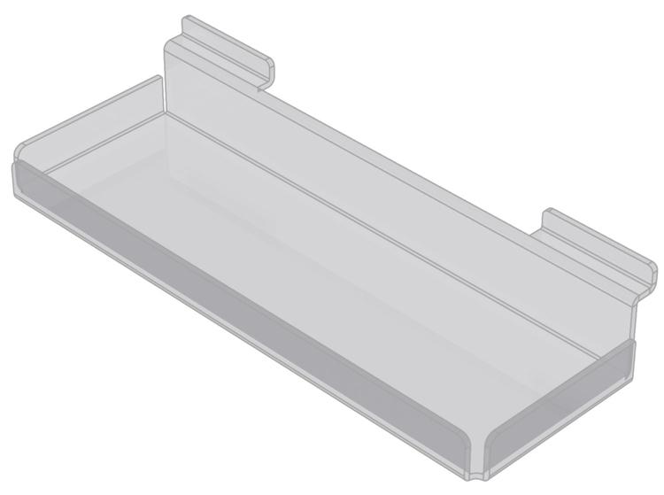 Displaykorg i akryl till spårpanel EA203