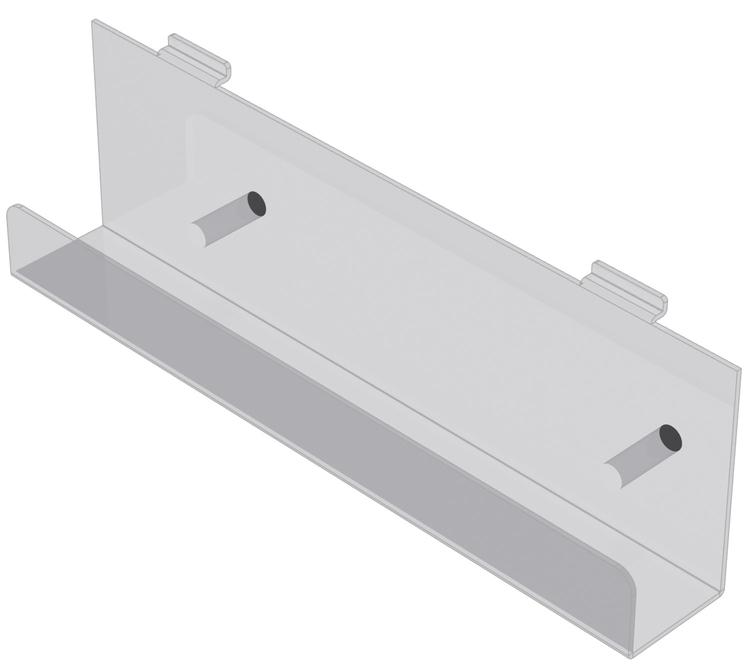 Tidningshylla i akryl till spårpanel EA225