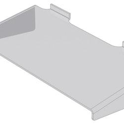 Hylla med stöd i akryl till spårpanel EA227