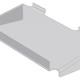 Hylla med stöd och framkant i akryl till spårpanel EA229