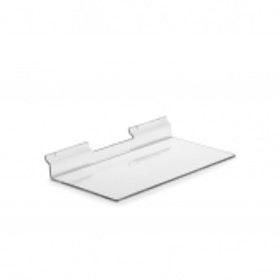 Exponeringshylla / Skohylla i akryl till spårpanel