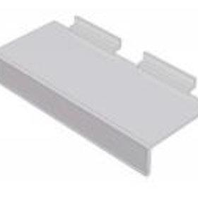 Exponeringshylla / Skohylla med prislist i akryl till spårpanel