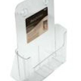 Broschyrhållare för bord i akryl