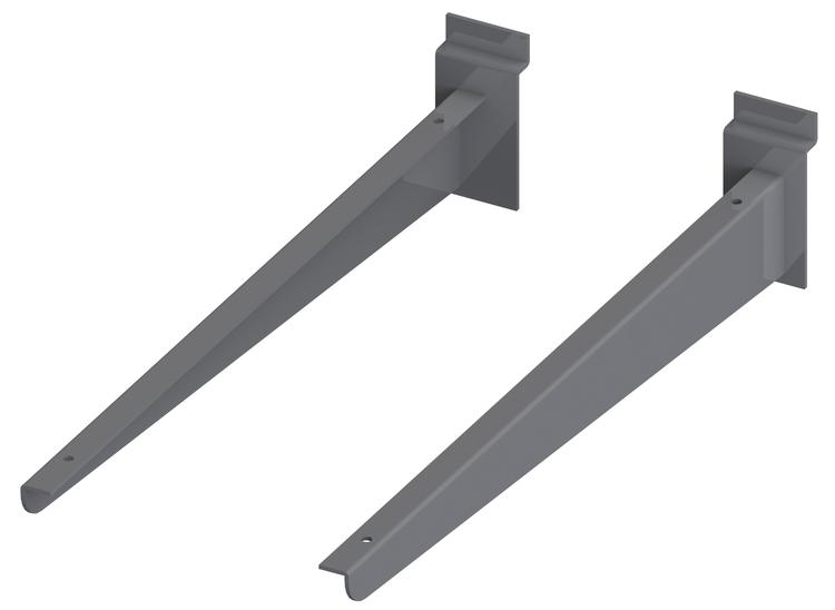 Konsol för trä / glashylla till spårpanel
