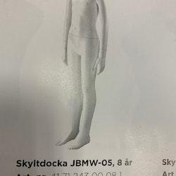 Skyltdocka Barn 8 år, JBMW-05, headless vit ny i kartong