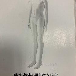 Skyltdocka Barn 12 år, JBMW-7, headless vit ny i kartong