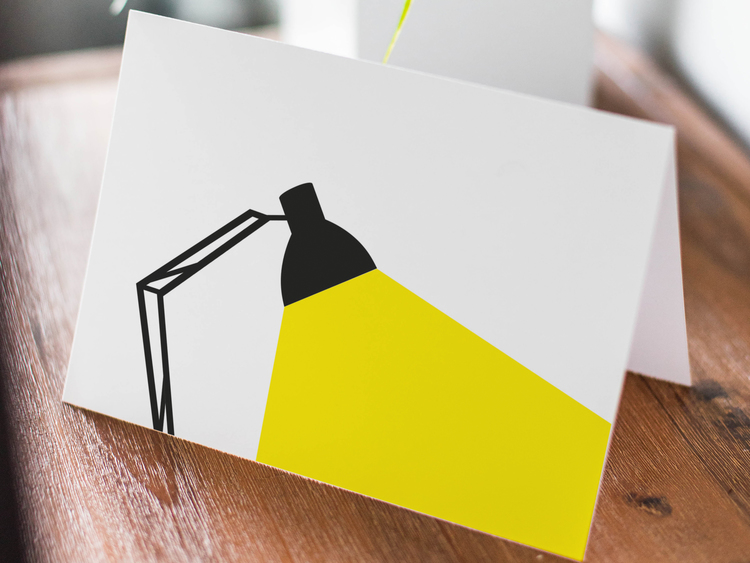 Skrivbordslampa - Dubbelvikt kort