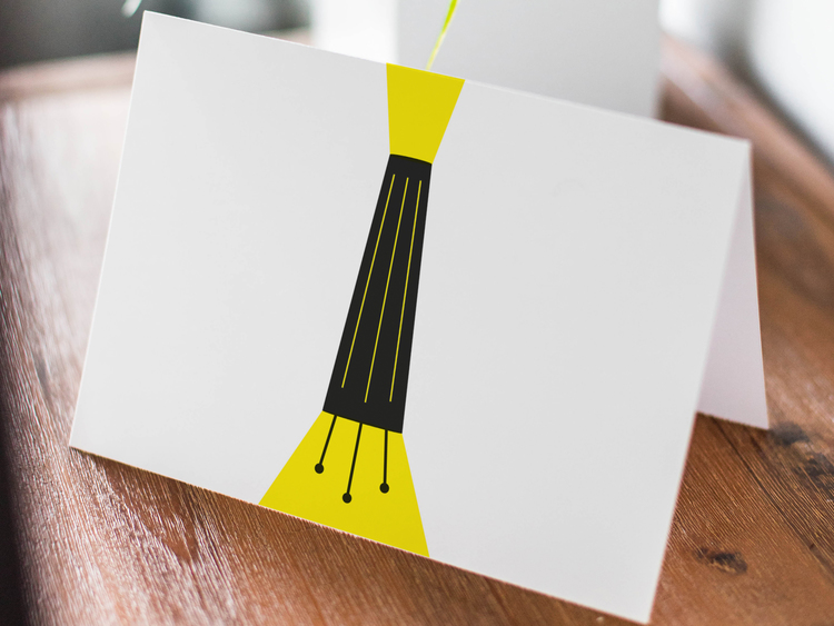 Bordslampa - Folded Greeting Card