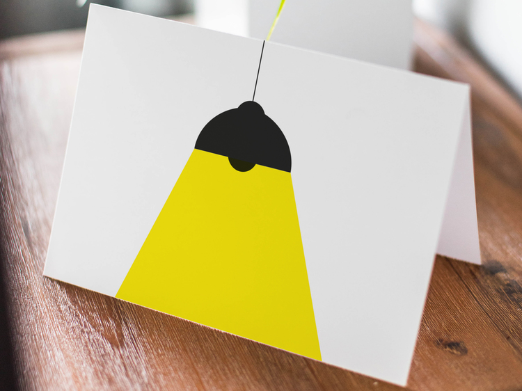 Taklampa - Folded Greeting Card