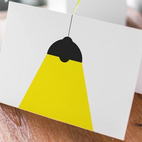 Taklampa - Dubbelvikt kort