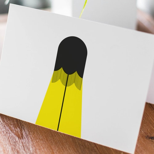 Golvlampa - Dubbelvikt kort