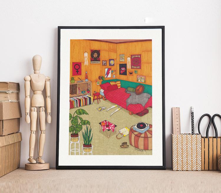 Tonårsrummet - illustration