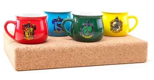 Keramik mugg Harry Potter Alla husen 4 pack