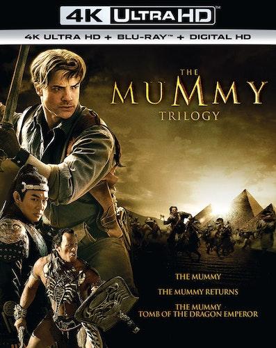 The Mummy Trilogy 4K + Bluray  (import med svensk text)