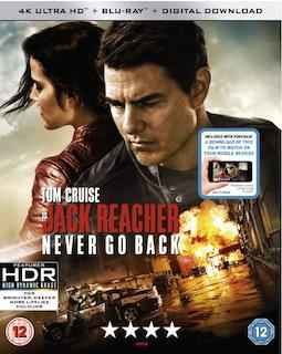 Jack Reacher Never Go Back 4K Ultra HD + Bluray  2016